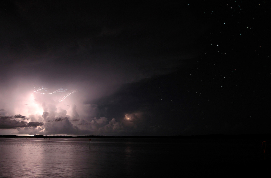 A lightning storm with stars in Florida's Everglades National Park out of Chokoloskee Island and the 10,000 Islands National Wildlife Refuge. Photo/Andrew Shurtleff