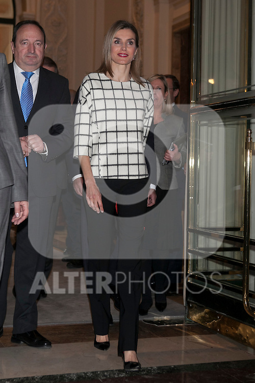 Queen Letizia of Spain attends Fundeu´s 10th Anniversary celebration in Madrid, Spain. Month XX, 2015. (ALTERPHOTOS/Victor Blanco)