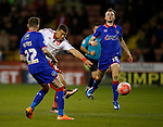 Che Adams of Sheffield Utd  takes a shot on goal - FA Cup Second round - Sheffield Utd vs Oldham Athletic - Bramall Lane Stadium - Sheffield - England - 5th December 2015 - Picture Simon Bellis/Sportimage