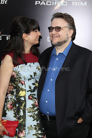 HOLLYWOOD, CA - JULY 9:  Lorenza Newton and Guillermo del Toro at the Pacific Rim  Premiere held at the Dolby Theatre in Hollywood, California. July 9, 2013. Credit: mpi21/MediaPunch Inc.