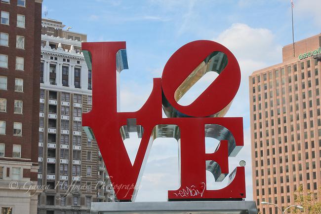 LOVE metal sculpture in Philadellphia, PA