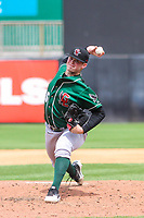 Great Lakes Loons pitcher Wills Montgomerie (36) delivers a pitch during a Midwest League game against the Wisconsin Timber Rattlers on May 12, 2018 at Fox Cities Stadium in Appleton, Wisconsin. Wisconsin defeated Great Lakes 3-1. (Brad Krause/Four Seam Images)