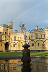 Rainbow above Christ Church during the Sunday Times Oxford Literary Festival, UK, 16 - 24 March 2013. <br />