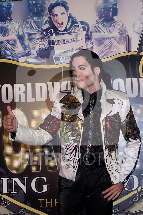 10.10.2012. Celebrities Attend ´Forever King Of Pop, Tribute to Michael Jackson´ Premier at the Teatro Nuevo Apolo in Madrid, Spain. In the image Michael Jackson actor (Alterphotos/Marta Gonzalez)