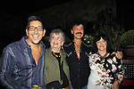 Randy Jones (Village People) and husband Will Grega (L) celebrate their marriage (this morning September 13, 2013) and pose with their moms Elaine - Randy's (L) and Will's mom Marge (R) with a celebration at the 13th Annual Kings & Cowboys at DL in New York City, New York. Randy is also celebrating his birthday. Also there were Randy's mom Elaine and Will's mom Marge. Actor Keith Collins was there. (Photo by Sue Coflin/Max Photos)
