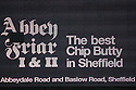 Chip butty sign. Sheffield United  v Stevenage - npower League 1 Play-off semi-final 2nd leg - Bramall Lane, Sheffield  - 14th May, 2012. © Kevin Coleman 2012