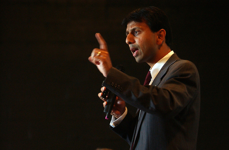 Rep. Bobby Jindal, R-La., speaks to the Home Builder's Association of Tangipahoa, La.