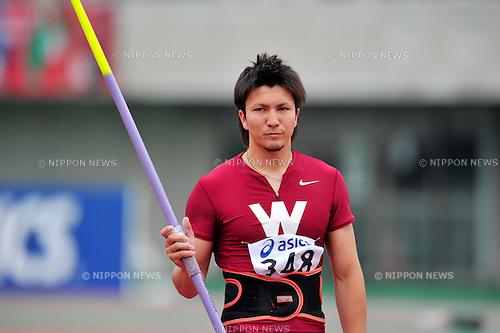 Genki Dean (JPN), JUNE 12th, 2011 - Athletics : The 95th Japan Athletics National Championships Saitama 2011, Men's Javelin throw final at Kumagaya Athletic Stadium, Saitama, Japan. (Photo by Jun Tsukida/AFLO SPORT) [0003] ...