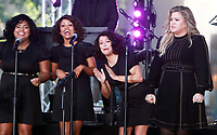 NEW YORK, NY - SEPTEMBER 8: Kelly Clarkson performs on NBC's Today Show Citi Concert Series in New York City on September 8, 2017. <br /> CAP/MPI/RW<br /> &copy;RW/MPI/Capital Pictures