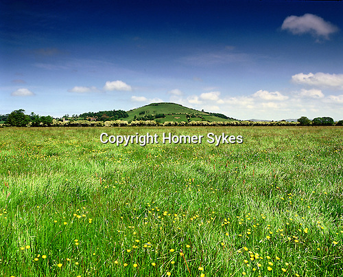 Brent Knoll, Nr Weston Super Mare, Somerset, England. Celtic Britain published by Orion. The site of an Iron Age hillfort.