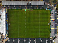 A general view of the Recreation Ground and the surrounding city of Bath from the air. Gallagher Premiership match, between Bath Rugby and Worcester Warriors on November 17, 2018 at the Recreation Ground in Bath, England. Photo by: Patrick Khachfe / Onside Images
