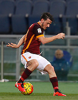 Calcio, Serie A: Roma vs Sampdoria. Roma, stadio Olimpico, 7 febbraio 2016.<br /> Roma&rsquo;s Alessandro Florenzi in action during the Italian Serie A football match between Roma and Sampdoria at Rome's Olympic stadium, 7 January 2016.<br /> UPDATE IMAGES PRESS/Riccardo De Luca