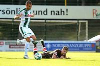 ROTINGHAUSEN - Voetbal, Sankt Pauli - FC Groningen, oefenduel, 01-09-2017, FC Groningen speler Jesper Drost wint een duel
