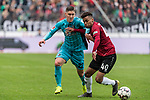 11.05.2019, HDI Arena, Hannover, GER, 1.FBL, Hannover 96 vs SC Freiburg<br /> <br /> DFL REGULATIONS PROHIBIT ANY USE OF PHOTOGRAPHS AS IMAGE SEQUENCES AND/OR QUASI-VIDEO.<br /> <br /> im Bild / picture shows<br /> Roland Sallai (SC Freiburg #22) im Duell / im Zweikampf mit Linton Maina (Hannover 96 #40), <br /> <br /> Foto © nordphoto / Ewert