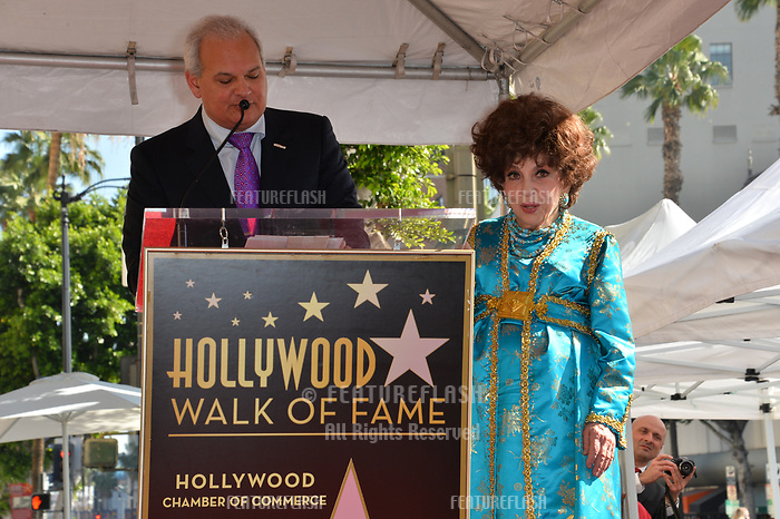Jeff Zarrinnam &amp; Gina Lollobrigida at the Hollywood Walk of Fame Star Ceremony honoring actress Gina Lollobrigida, Los Angeles, USA 01 Feb. 2018<br /> Picture: Paul Smith/Featureflash/SilverHub 0208 004 5359 sales@silverhubmedia.com