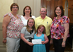 Kevin McCullough with family Michelle, Emily and Elsie present cheque  to Elizabeth Doyle, Chairperson  and Jane Coyle, Treasurer Drogheda Special Olympics at the Special Olympics Awards Night in the Westcourt Hotel.  Kevin organised a Golf Classic in Seapoint Golf Club and raised EUR2,280...Photo NEWSFILE/Jenny Matthews.(Photo credit should read Jenny Matthews/NEWSFILE)....This Picture has been sent you under the condtions enclosed by:.Newsfile Ltd..The Studio,.Millmount Abbey,.Drogheda,.Co Meath..Ireland..Tel: +353(0)41-9871240.Fax: +353(0)41-9871260.GSM: +353(0)86-2500958.email: pictures@newsfile.ie.www.newsfile.ie.FTP: 193.120.102.198.