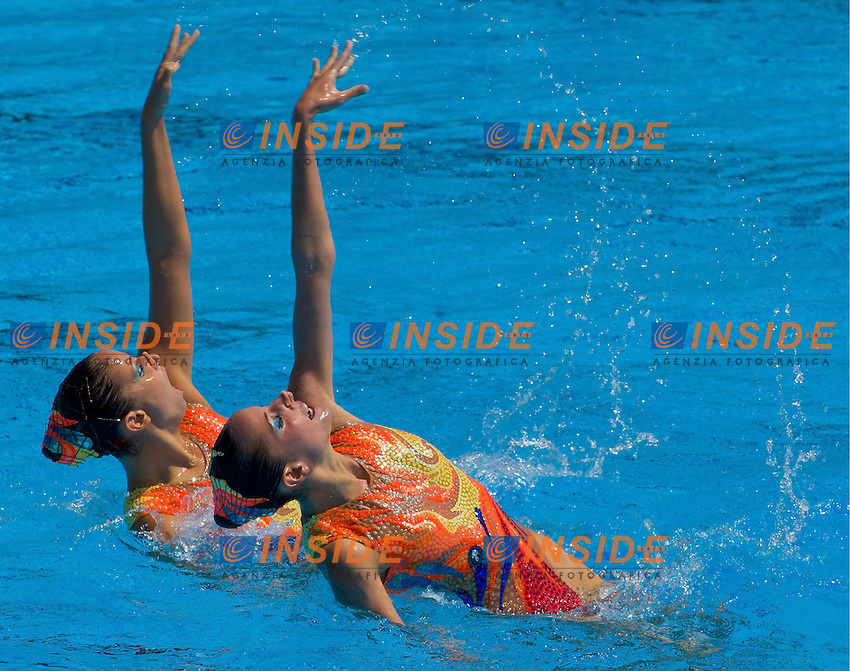Roma 24st July 2009 - 13th Fina World Championships From 17th to 2nd August 2009..Duet Free..GRE Greece..ANTHOPOULOU Natalia 22 SEP 1989..SOLOMOU Despoina 18 AUG 1990..photo: Roma2009.com/InsideFoto/SeaSee.com