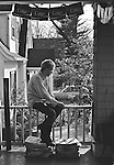 Jeff Nelson of Minor Threat at Dischord House, Arlington VA, spring 1982.