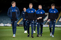 Bolton Wanderers' (l-r): Harry Brockbank, Adam Senior, Connor Hall and George Thomason pictured before the match  <br /> <br /> Photographer Andrew Kearns/CameraSport<br /> <br /> The EFL Sky Bet League One - Rochdale v Bolton Wanderers - Saturday 11th January 2020 - Spotland Stadium - Rochdale<br /> <br /> World Copyright © 2020 CameraSport. All rights reserved. 43 Linden Ave. Countesthorpe. Leicester. England. LE8 5PG - Tel: +44 (0) 116 277 4147 - admin@camerasport.com - www.camerasport.com