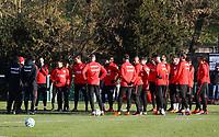Besprechung Eintracht mit Trainer Niko Kovac (Eintracht Frankfurt) - 14.02.2018: Eintracht Frankfurt Training, Commerzbank Arena
