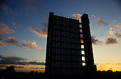 Trellick Tower, designed by award winning architect Erno Goldfinger, in Kensingon & Chelsea, West London.