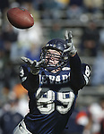Nevada tight end Erick Steelman tries to make a catch against UTEP on Saturday, Nov. 9, 2002 in Reno, Nev..Photo by Cathleen Allison