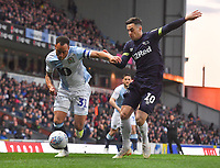 Blackburn Rovers' Elliott Bennett battles with Derby County's Tom Lawrence<br /> <br /> Photographer Dave Howarth/CameraSport<br /> <br /> The EFL Sky Bet Championship - Blackburn Rovers v Derby County -Tuesday 9th April 2019 - Ewood Park - Blackburn<br /> <br /> World Copyright &copy; 2019 CameraSport. All rights reserved. 43 Linden Ave. Countesthorpe. Leicester. England. LE8 5PG - Tel: +44 (0) 116 277 4147 - admin@camerasport.com - www.camerasport.com