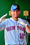 4 July 2010: New York Mets outfielder Jeff Francoeur smiles in the dugout during a game against the Washington Nationals at Nationals Park in Washington, DC. The Mets defeated the Nationals 9-5, splitting their 4-game series. Mandatory Credit: Ed Wolfstein Photo