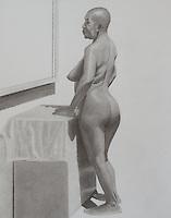Rashmi - 2015 Graphite on paper 16 x 20 inch (40.64 x 50.8 cm)