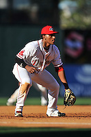 Third baseman Roldani Baldwin (10) of the Greenville Drive plays defense in a game against the Columbia Fireflies on Sunday, April 24, 2016, at Fluor Field at the West End in Greenville, South Carolina. Greenville won, 5-1. (Tom Priddy/Four Seam Images)