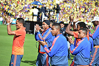 BOGOTA - COLOMBIA, 05-07-2018: Carlos BACCA, Luis MURIEL jugadores de la Selección Colombia de fútbol reciben un homenaje hoy, 05 de julio de 2018, después de su participación en la Copa Mundial de la FIFA Rusia 2018. El acto tuvo lugar een el estadio Nemesio Camacho El Campín de la ciudad de Bogotá / RCarlos BACCA Luis MURIEL players of Colombia national soccer team receives tribute today, July 5, 2018, after their participation in the FIFA World Cup Russia 2018. The event took place at Nemesio Camacho El Campin stadium in Bogota city. Photo: VizzorImage / Gabriel Aponte / Staff