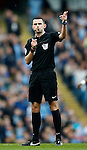 Referee Michael Oliver during the Barclays Premier League match at The Etihad Stadium. Photo credit should read: Simon Bellis/Sportimage