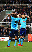 4th November 2017, St James Park, Newcastle upon Tyne, England; EPL Premier League football, Newcastle United Bournemouth; Marc Pugh of AFC Bournemouth and Nathan Aké of AFC Bournemouth cant believe Pugh shot hit the post and was cleared off the line