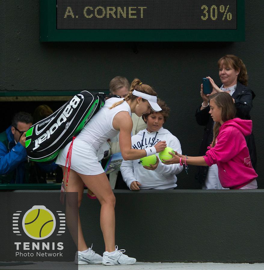ALISON RISKE (USA)<br /> <br /> The Championships Wimbledon 2014 - The All England Lawn Tennis Club -  London - UK -  ATP - ITF - WTA-2014  - Grand Slam - Great Britain -  28th June 2014. <br /> <br /> &copy; Tennis Photo Network