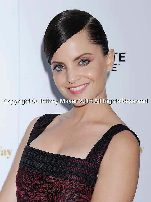 LOS ANGELES, CA - AUGUST 19: Actress Mena Suvari arrives at the Premiere Of Lionsgate Premiere's 'She's Funny That Way' at Harmony Gold on August 19, 2015 in Los Angeles, California.