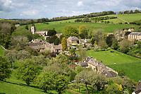 United Kingdom, England, Worcestershire, Naunton: View over cotswold village | Grossbritannien, England, Worcestershire, Naunton: typisches Dorf der Region Cotswolds