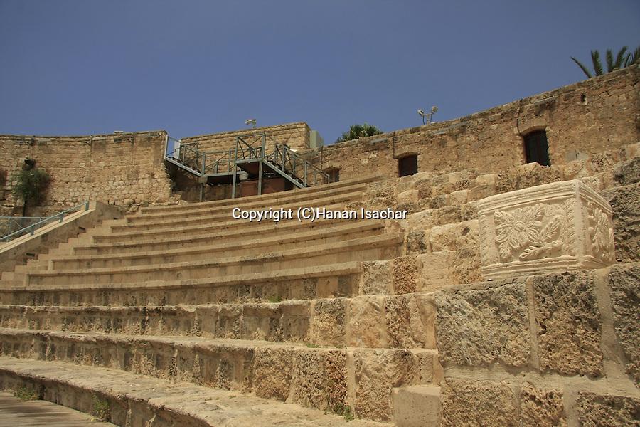 Israel, Carmel, the Roman theater in Shuni