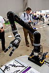 """July 11th, 2012 : Tokyo, Japan - The high performance robot arm """"Jaco"""" by kinova is displayed during ROBOTECH 2012. More than 200 of companies exhibit to show their newly innovative products during Micromachine/MEMS ROBOTECH 2012 at the Tokyo Big Sight in Tokyo, Japan. This year's keyword for this exhibition is """"Open Innovation"""". (Photo by Yumeto Yamazaki/AFLO)"""