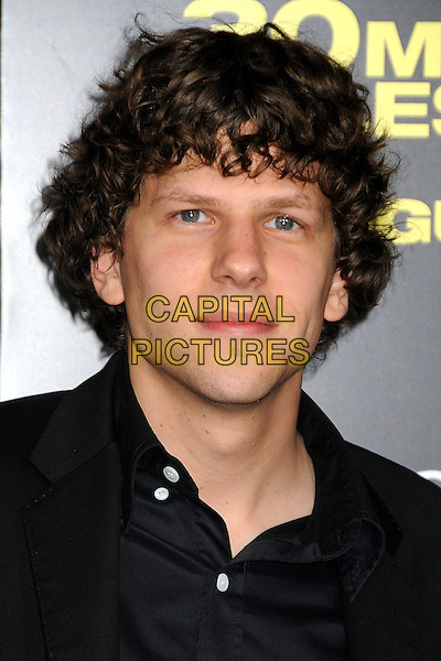 """Jesse Eisenberg.""""30 Minutes or Less"""" World Premiere held at Grauman's Chinese Theatre, Hollywood, California, USA..August 8th, 2011.headshot portrait black.CAP/ADM/BP.©Byron Purvis/AdMedia/Capital Pictures."""
