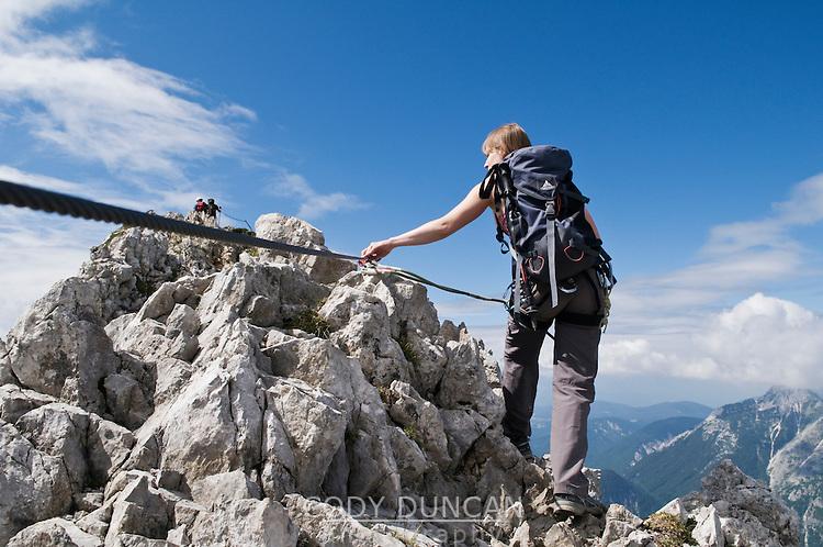 Klettersteig Germany : Westliche karwendelspitze 2384m mittenwalder hoehenweg