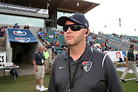 Cary, North Carolina  - Saturday June 17, 2017: Bobby Hammond prior to a regular season National Women's Soccer League (NWSL) match between the North Carolina Courage and the Boston Breakers at Sahlen's Stadium at WakeMed Soccer Park. The Courage won the game 3-1.
