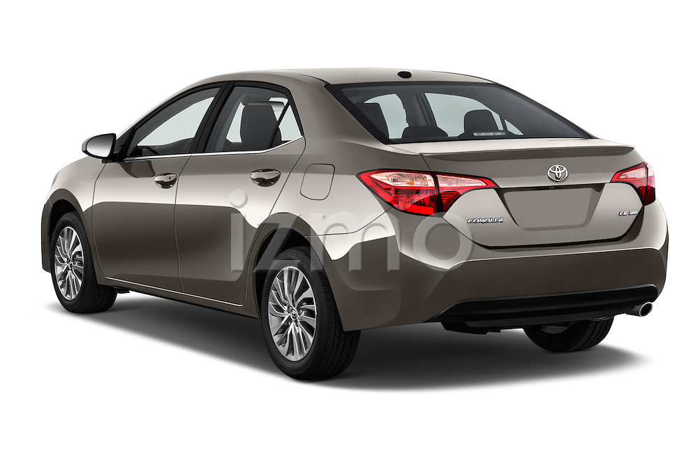 Car pictures of rear three quarter view of 2017 Toyota Corolla LE-Eco-AT 4 Door Sedan Angular Rear