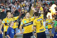 Teameinlauf Rhein-Neckar Löwen - Tag des Handball, Rhein-Neckar Löwen vs. Hamburger SV, Commerzbank Arena