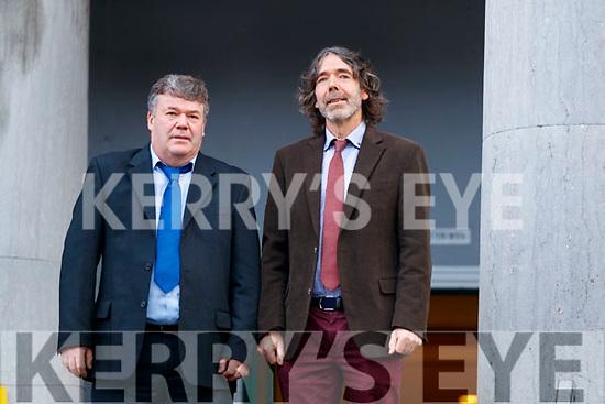 Padraig Buckley and Tadhg Buckley, Killarney School of Music  at Tralee Court on Friday.