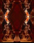 Fractal Column II, Fractal Composite, Upper Antelope Canyon, Tse-Bighanilini, Slot Canyon, Lake Powell Navajo Tribal Park, Page, Arizona