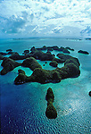 Aerial view Rock Islands of Palau