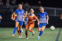 Allston, MA - Wednesday Aug. 31, 2016: Kristie Mewis, Ellie Brush, Natasha Dowie during a regular season National Women's Soccer League (NWSL) match between the Boston Breakers and the Houston Dash at Jordan Field.