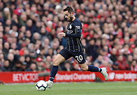 Manchester City's Bernardo Silva<br /> <br /> Photographer Rich Linley/CameraSport<br /> <br /> The Premier League - Liverpool v Manchester City - Sunday 7th October 2018 - Anfield - Liverpool<br /> <br /> World Copyright &copy; 2018 CameraSport. All rights reserved. 43 Linden Ave. Countesthorpe. Leicester. England. LE8 5PG - Tel: +44 (0) 116 277 4147 - admin@camerasport.com - www.camerasport.com