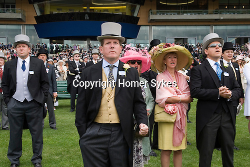The Royal Enclosure, and new grandstand. Horse racing at Royal Ascot, Berkshire, England. 2006.