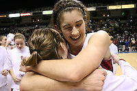 5 March 2007: Brooke Smith celebrates during Stanford's 62-55 win over ASU in the finals of the women's Pac-10 tournament championship at HP Pavilion in San Jose, CA.